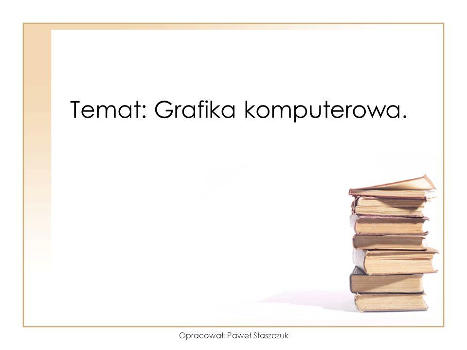 Opracował: Paweł Staszczuk Jakie są rodzaje grafiki komputerowej.