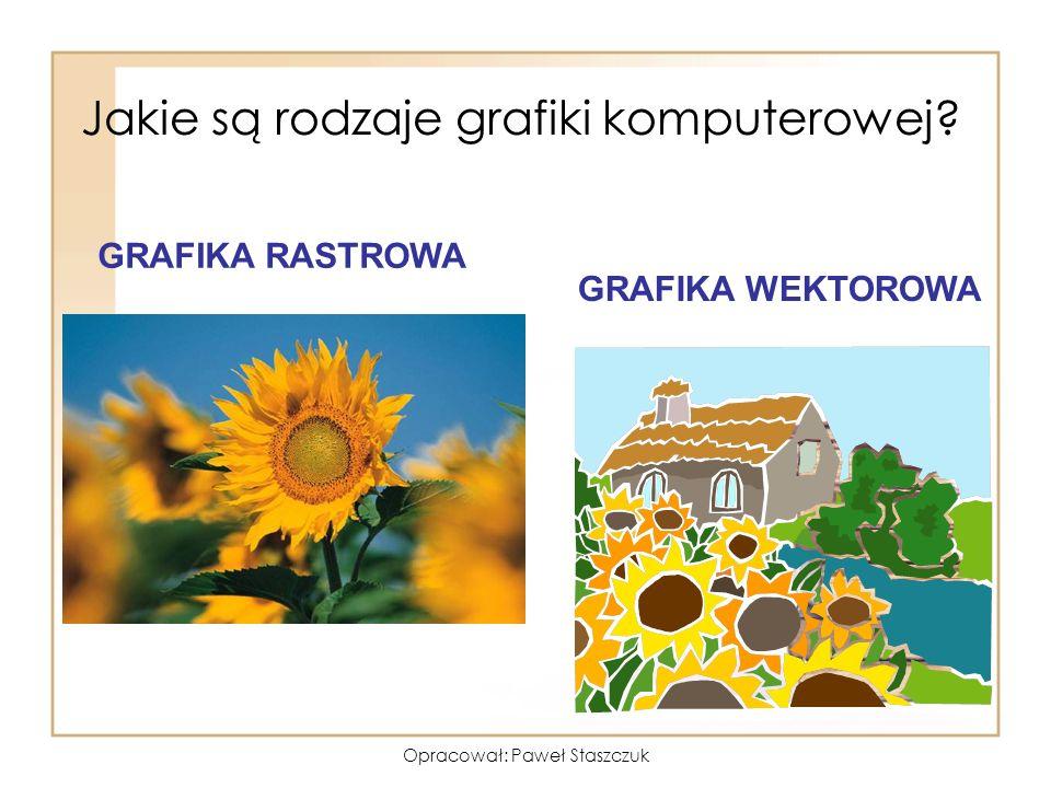 Opracował: Paweł Staszczuk Jakie są rodzaje grafiki komputerowej? GRAFIKA RASTROWA GRAFIKA WEKTOROWA