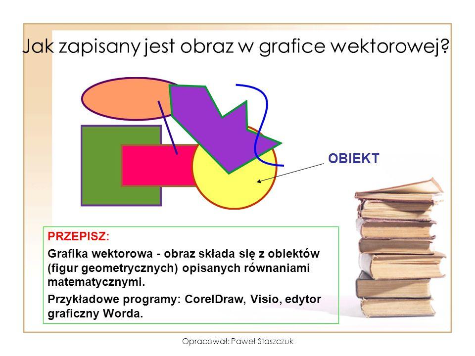 Opracował: Paweł Staszczuk Jakie są formaty obrazów wektorowych.
