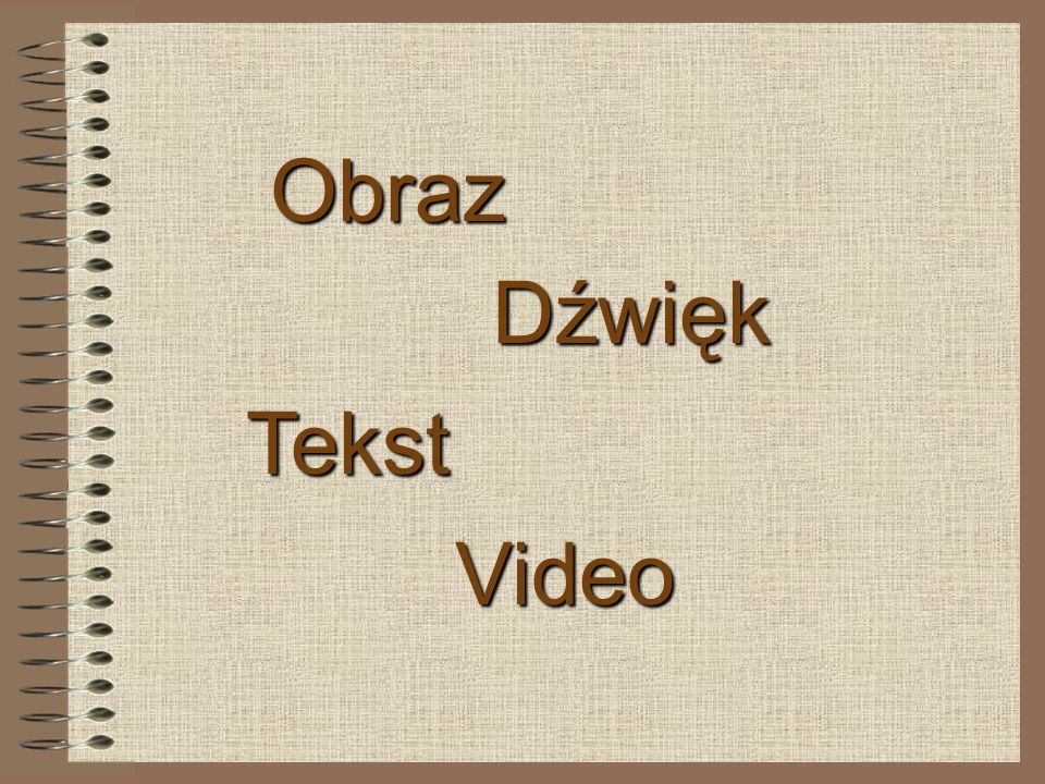 Obraz Dźwięk Video Tekst