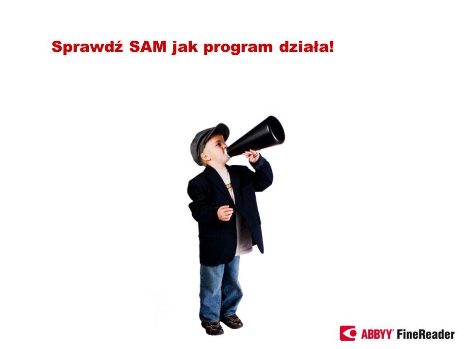 Sprawdź SAM jak program działa!