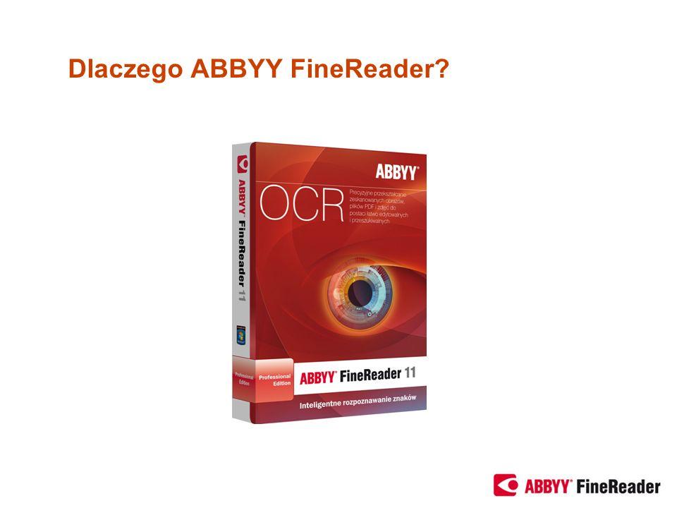 Dlaczego ABBYY FineReader?