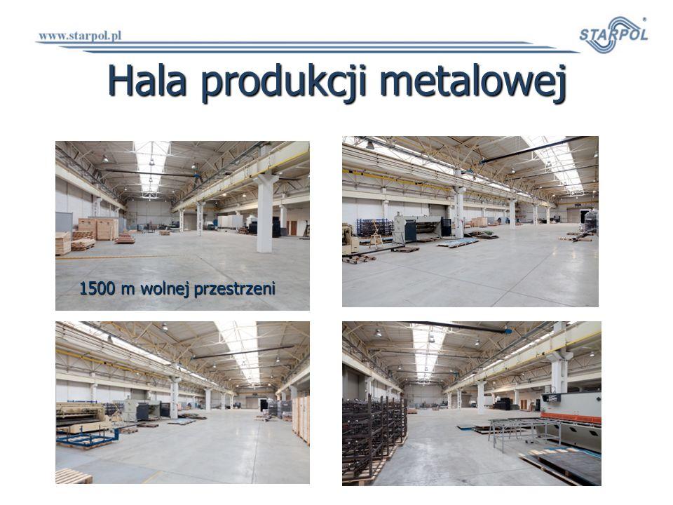 Hala produkcji metalowej 1500 m wolnej przestrzeni