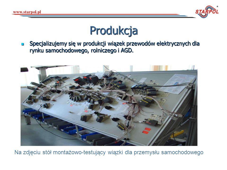Maszyny Posiadamy nowoczesny park maszynowy do obróbki przewodów elektrycznych firmy Komax, który umożliwia zorganizowanie sprawnej produkcji wielkoseryjnej.