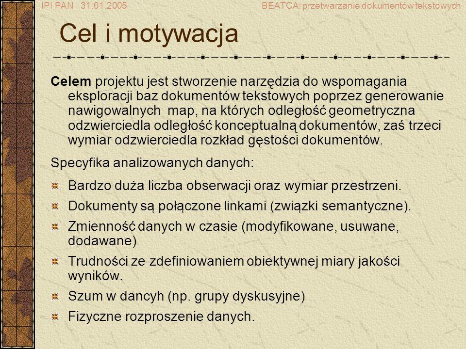 IPI PAN 31.01.2005BEATCA: przetwarzanie dokumentów tekstowych Algorytm EM - krok 1