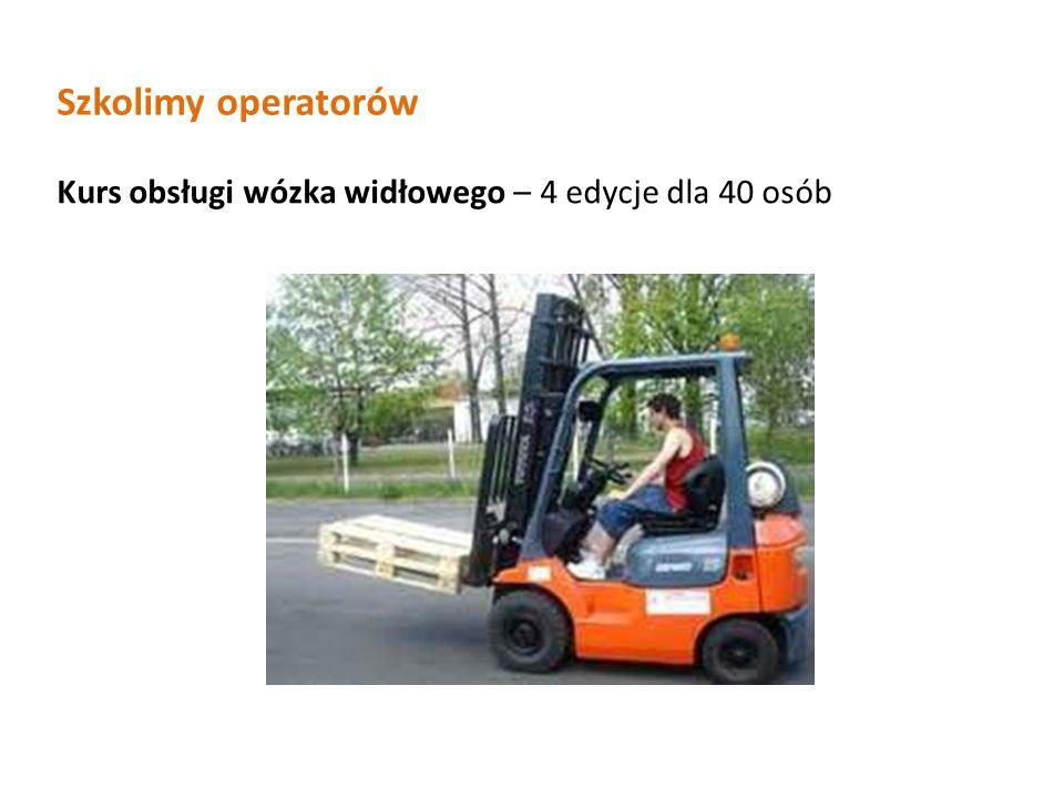 Szkolimy operatorów Kurs obsługi wózka widłowego – 4 edycje dla 40 osób