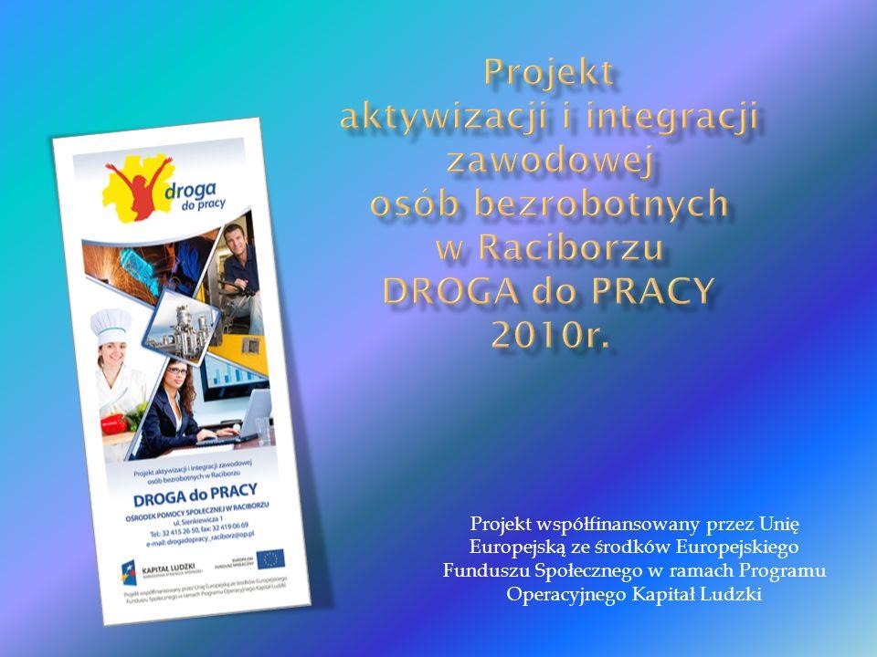 Projekt współfinansowany przez Unię Europejską ze środków Europejskiego Funduszu Społecznego w ramach Programu Operacyjnego Kapitał Ludzki