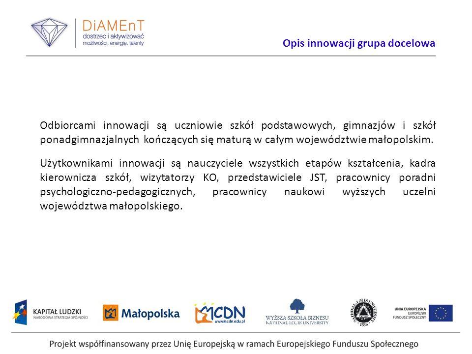 Etapy realizacji projektu Projekty innowacyjne testujące muszą być nastawione na badanie i rozwój konkretnego produktu.