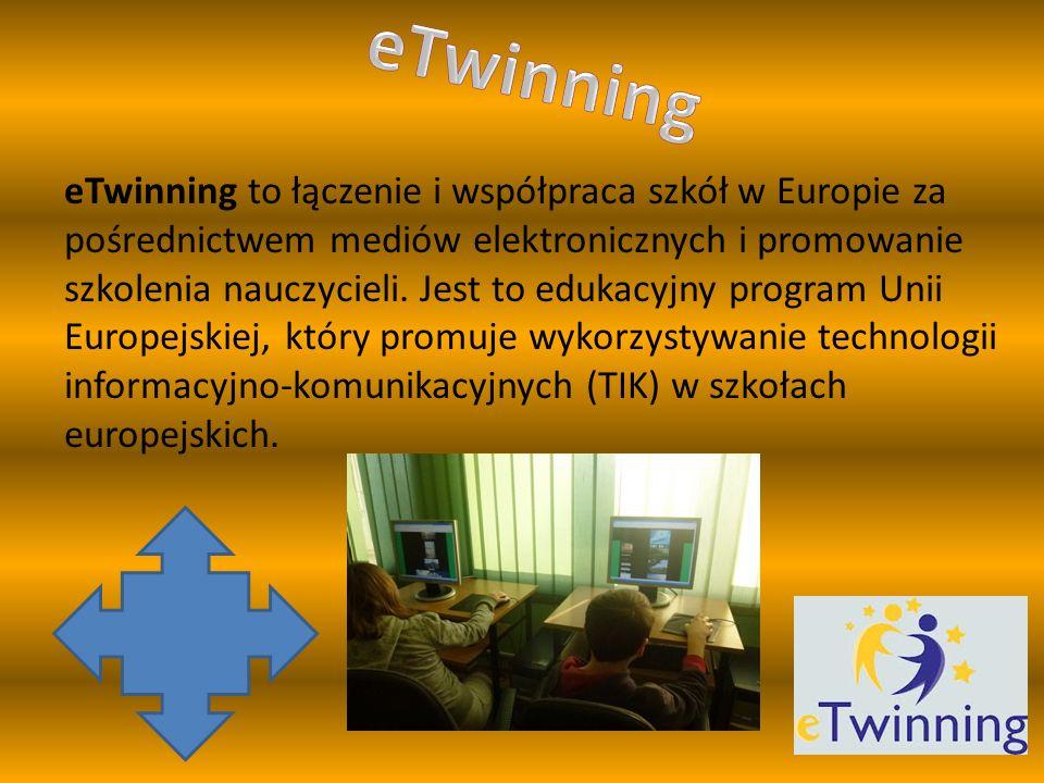 eTwinning to łączenie i współpraca szkół w Europie za pośrednictwem mediów elektronicznych i promowanie szkolenia nauczycieli.