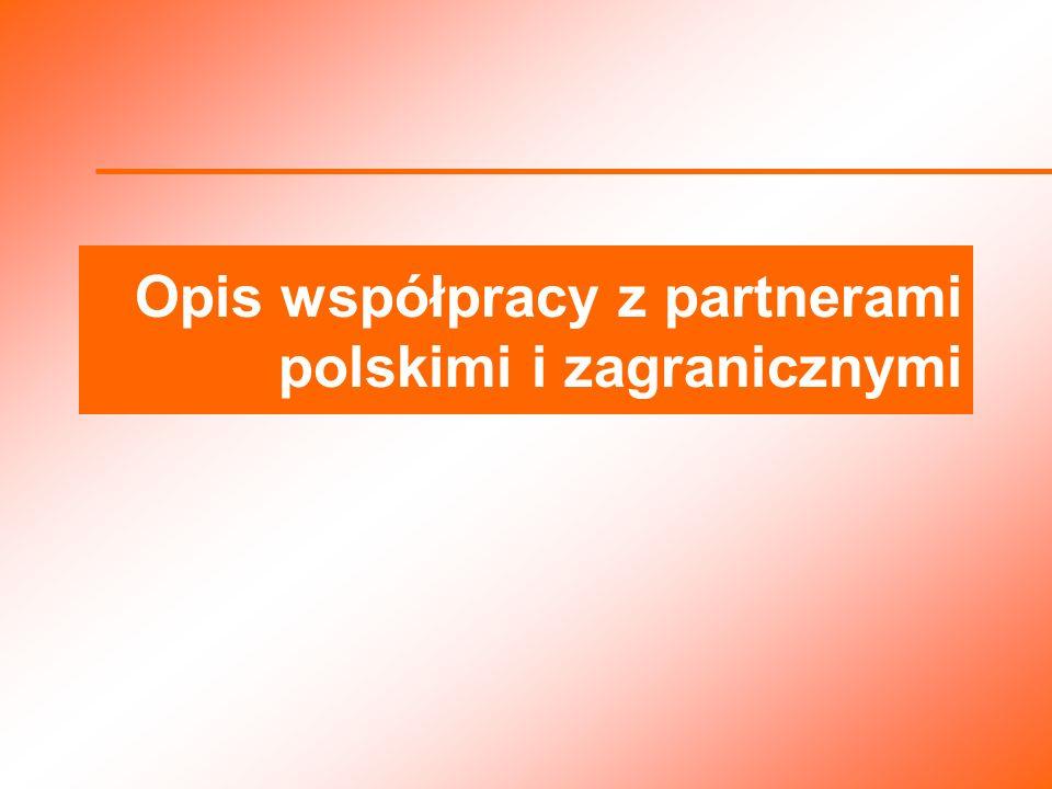 Opis współpracy z partnerami polskimi i zagranicznymi