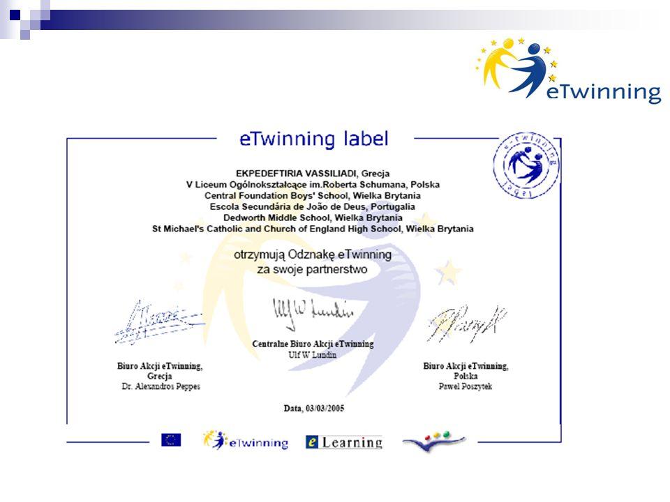 KORZYŚCI Przygotowanie uczniów do radzenia sobie na europejskim rynku pracy Wzmocnienie wielorakich kompetencji uczniów i nauczycieli Korzystanie z dorobku doświadczonych szkół i nauczycieli Wspieranie uzdolnień uczniów poprzez udział w europejskim wymiarze edukacji Wzrost zaangażowania uczniów w proces uczenia się Znoszenie barier miejsca i czasu oraz barier językowych Doskonalenie umiejętności posługiwania różnorodnymi narzędziami ICT Rozwijanie kompetencji językowych