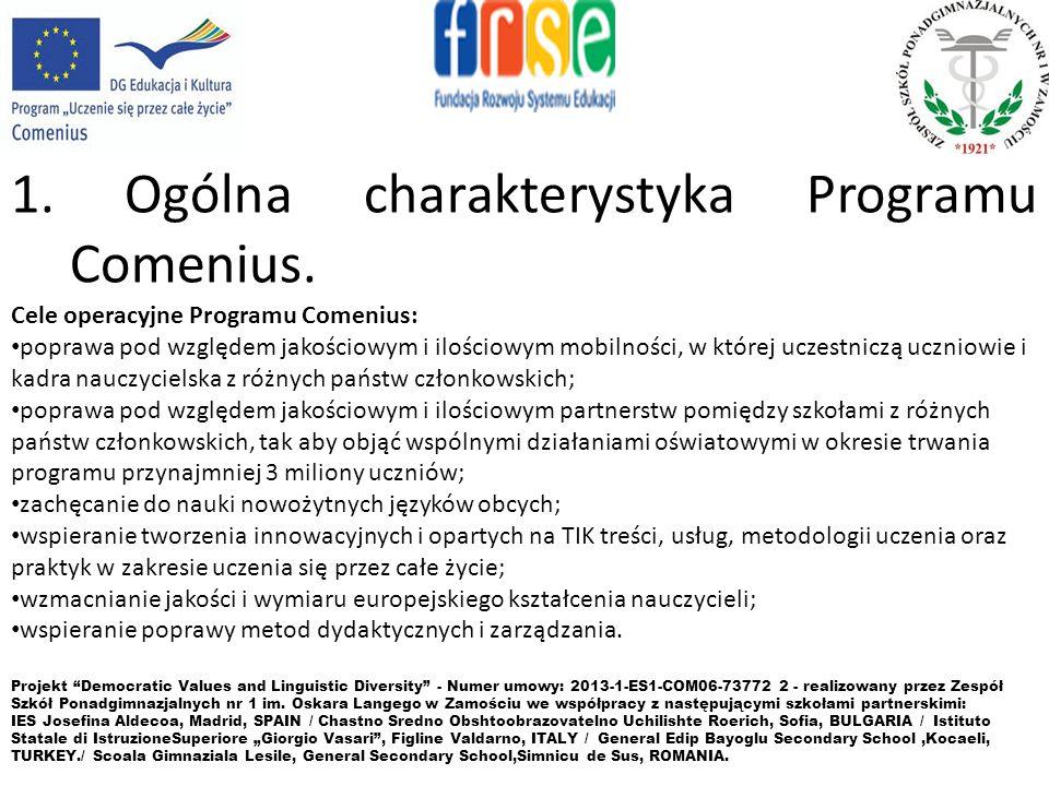 1.Ogólna charakterystyka Programu Comenius.