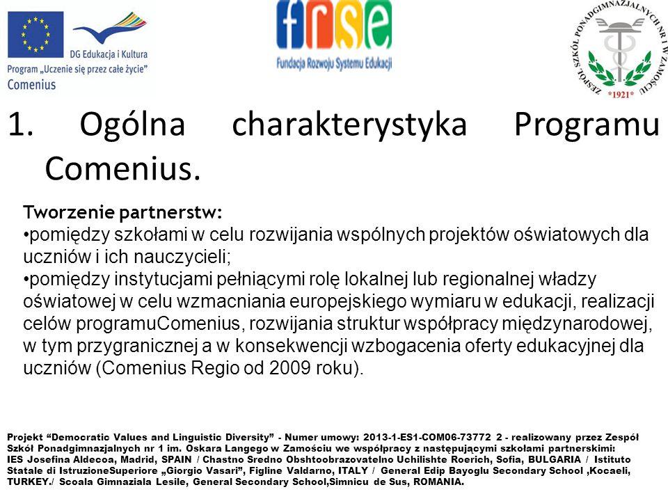 3.Zasady uczestnictwa w Programie Comenius. 1.CHĘĆ WZIĘCIA UDZIAŁU W PROJEKCIE.