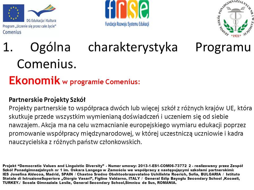 3.Zasady uczestnictwa w Programie Comenius. 4.