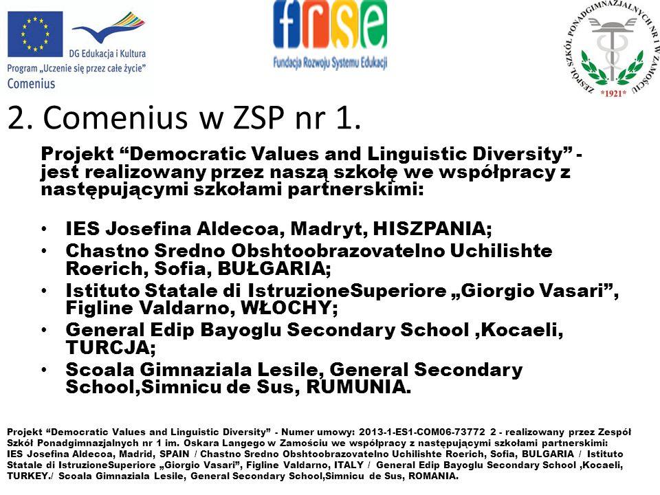 3.Zasady uczestnictwa w Programie Comenius.