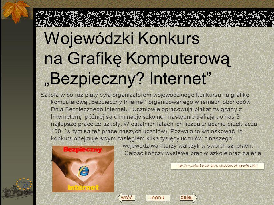 wróć menu dalej Wojewódzki Konkurs na Grafikę Komputerową Bezpieczny.