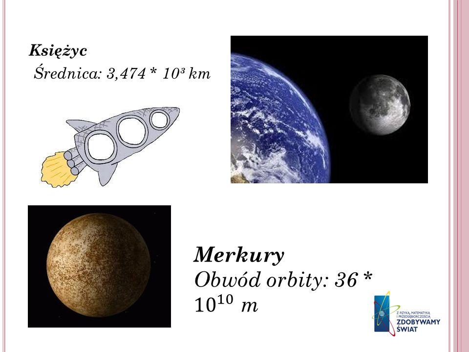 Księżyc Średnica: 3,474 * 10³ km