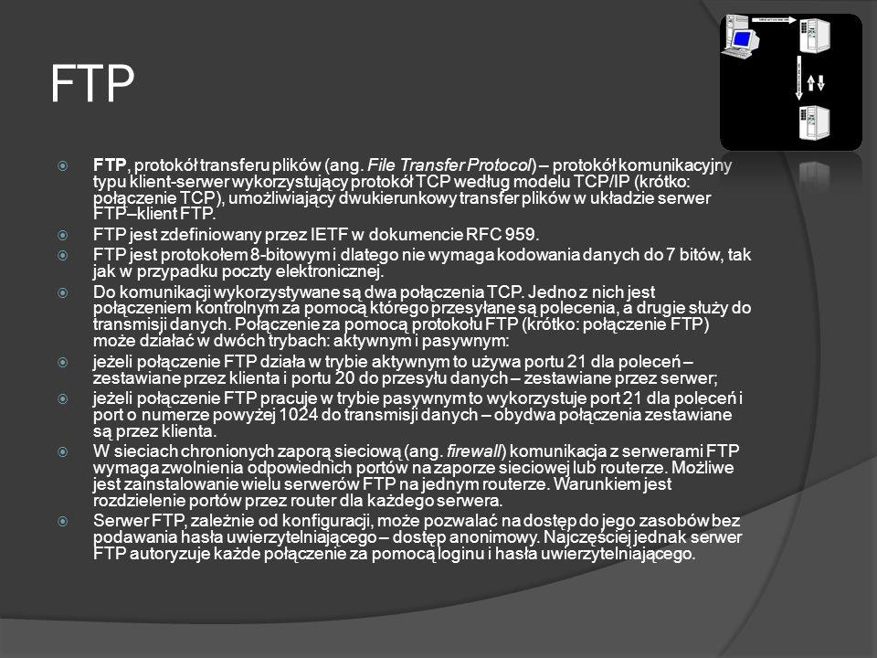 WWW World Wide Web (po angielsku: ogólnoświatowa sieć), w skrócie Web lub częściej WWW – hipertekstowy, multimedialny, internetowy system informacyjny oparty na publicznie dostępnych, otwartych standardach IETF i W3C.