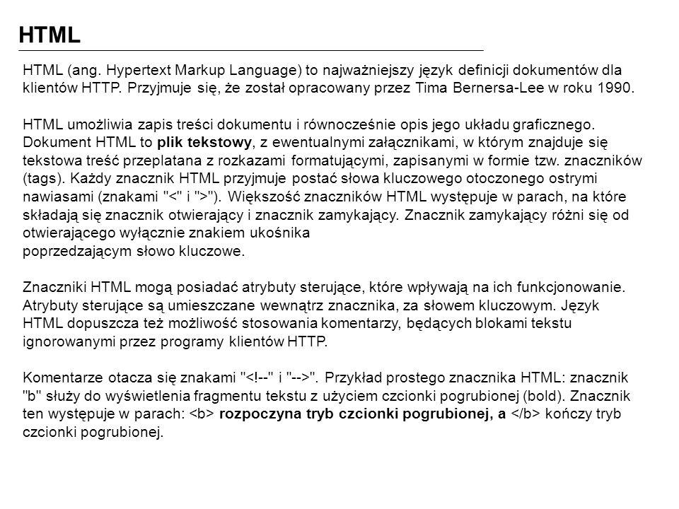 HTML HTML (ang.