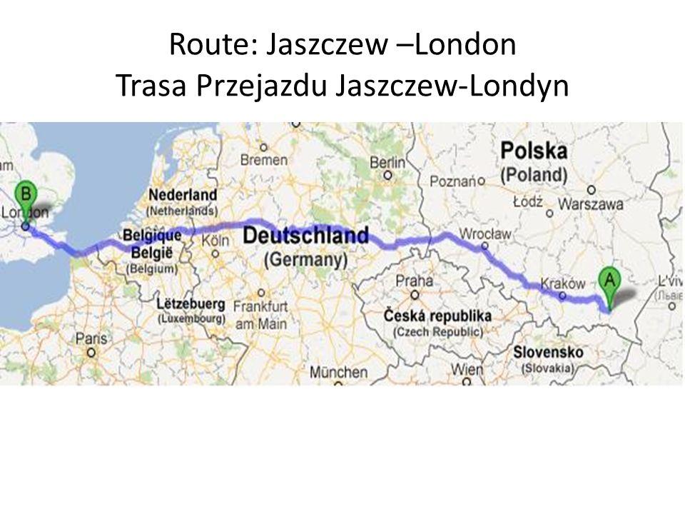 Iternity- a plan of journey Plan podróży Day 1- We leave Jaszczew at about 9 a.m.