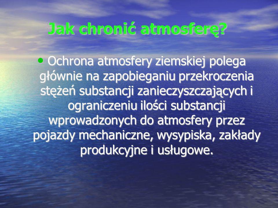 Ograniczenie emisji zanieczyszczeń Ograniczenie emisji zanieczyszczeń z źródeł antropogenicznych uzyskuje się w wyniku : 1.