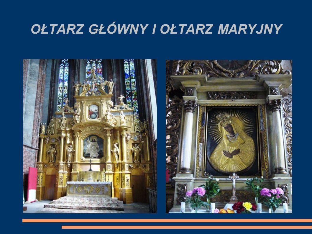 OŁTARZ GŁÓWNY I OŁTARZ MARYJNY