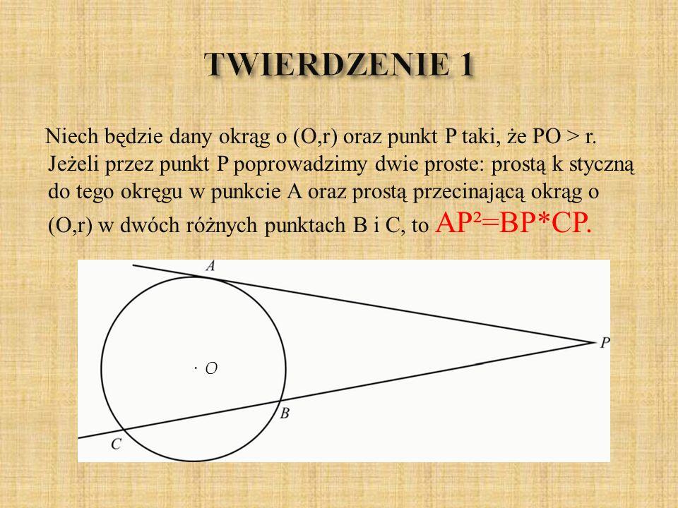 DOWÓD Rozważmy dwa trójkąty: APB i APC.