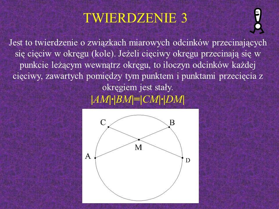 Dwie cięciwy przecinają się wewnątrz okręgu tak, że odcinki jednej z nich mają długość 8 cm i 6 cm, a odcinki drugiej pozostają w stosunku 2:3.