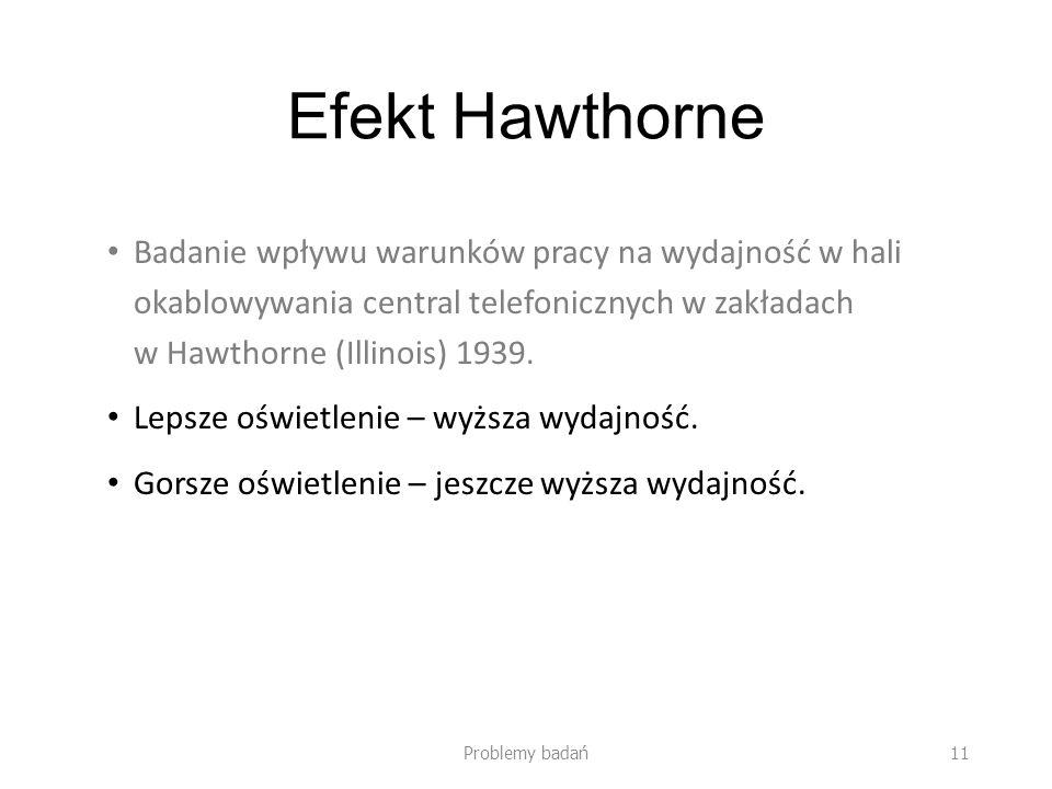 Efekt Hawthorne Badanie wpływu warunków pracy na wydajność w hali okablowywania central telefonicznych w zakładach w Hawthorne (Illinois) 1939. Lepsze
