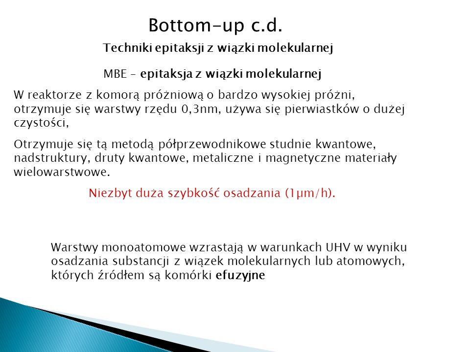 Bottom-up c.d.