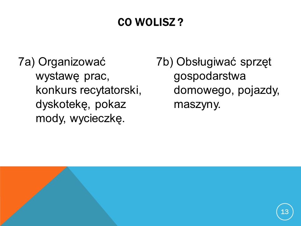 13 CO WOLISZ .