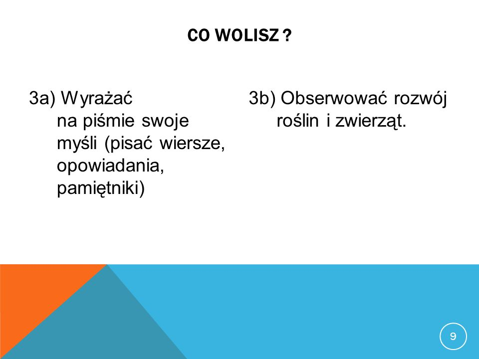 9 CO WOLISZ .