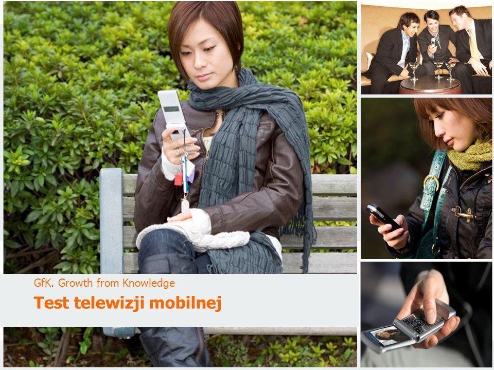 GfK PoloniaTest telewizji mobilnejStyczeń 2010 Tytuł GfK.