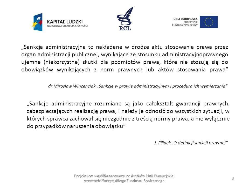 Sankcja administracyjna to nakładane w drodze aktu stosowania prawa przez organ administracji publicznej, wynikające ze stosunku administracyjnoprawne
