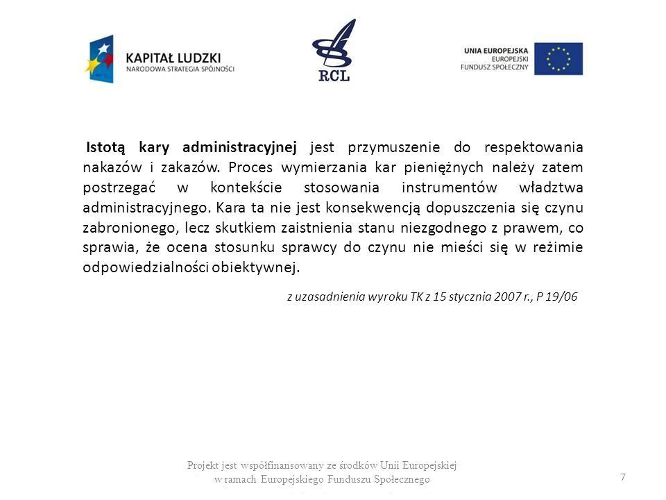 28 Projekt jest współfinansowany ze środków Unii Europejskiej w ramach Europejskiego Funduszu Społecznego Szczególny model sankcji w prawie ochrony konkurencji Zgodnie z doktryną pojęcie osoba pełniąca funkcje kierowniczą lub wchodząca w skład organu zarządzającego, o której mowa w art.