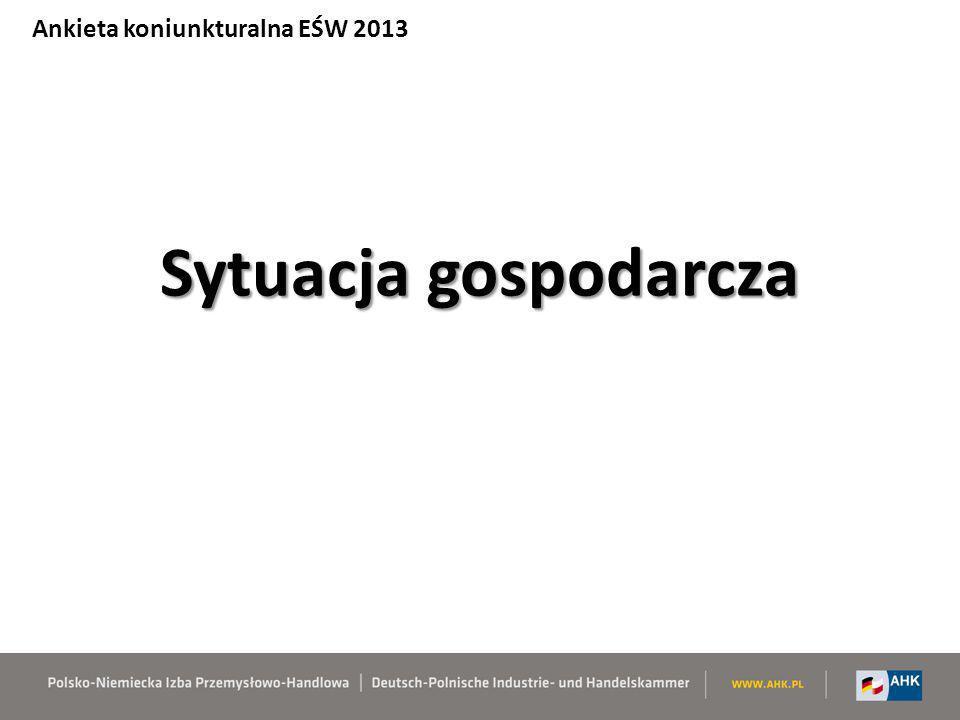 Ocena czynników inwestycyjnych – średnia EŚW – BOTTOM 5 Ankieta koniunkturalna EŚW 2013