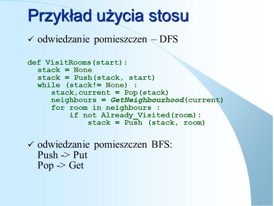 Odwrotna Notacja Polska Rozwinięcie notacji zaproponowanej przez Jana Łukasiewicza Pozwala wykonywać obliczenia bez nawiasów, bez potrzeby stosowania prorytetów a+b*c przedstawiane jest jako a b c * + a+b*c-7 przedstawiane jest jako a b c * + 7 - b*c-(d+e)*4 przedstawiane jest jako b c * d e + 4 * -