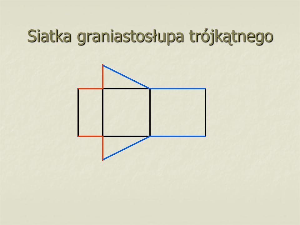 Siatka graniastosłupa trójkątnego