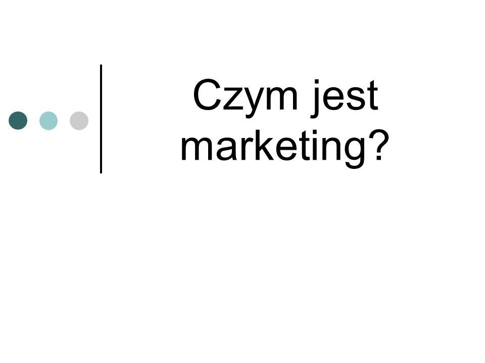 Czym jest marketing?