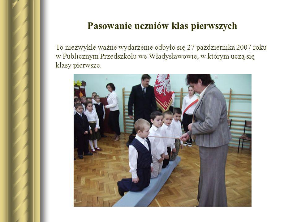 To niezwykle ważne wydarzenie odbyło się 27 października 2007 roku w Publicznym Przedszkolu we Władysławowie, w którym uczą się klasy pierwsze. Pasowa
