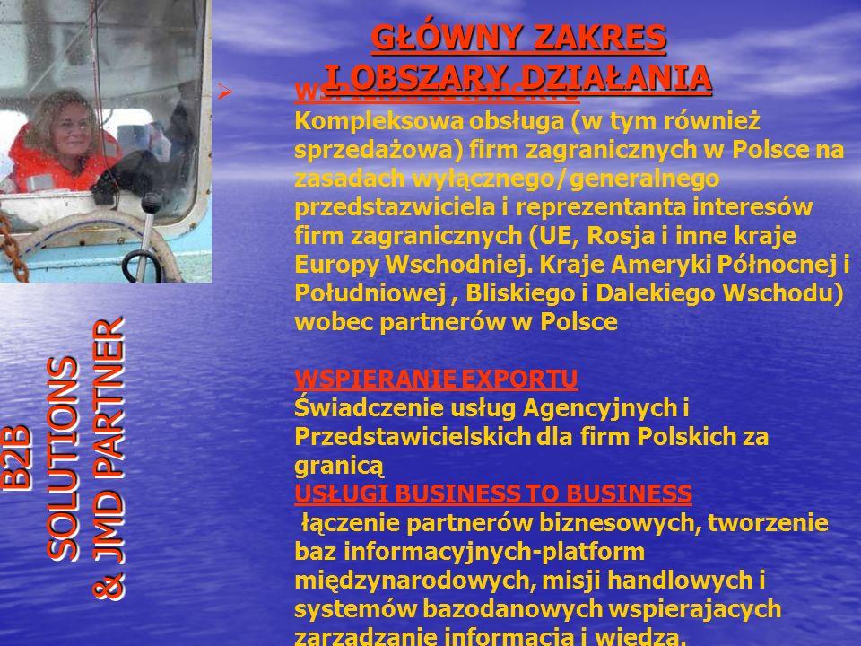 WSPIERANIE IMPORTU Kompleksowa obsługa (w tym również sprzedażowa) firm zagranicznych w Polsce na zasadach wyłącznego/generalnego przedstazwiciela i r