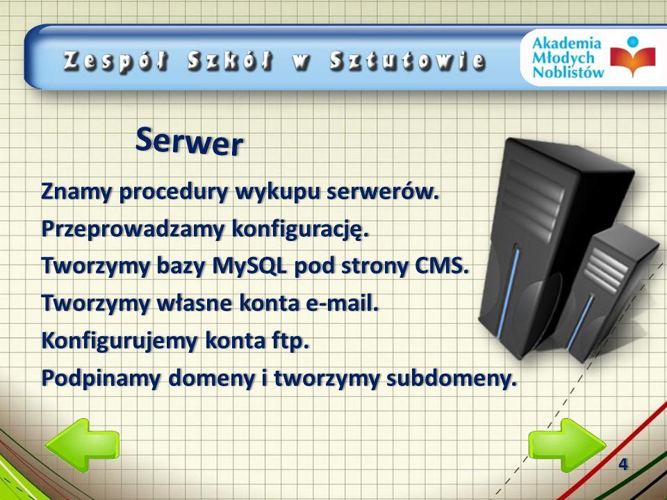 Serwer Znamy procedury wykupu serwerów.Znamy procedury wykupu serwerów.