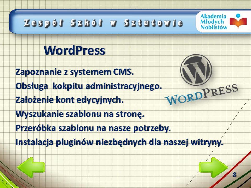 Zapoznanie z systemem CMS.Zapoznanie z systemem CMS.