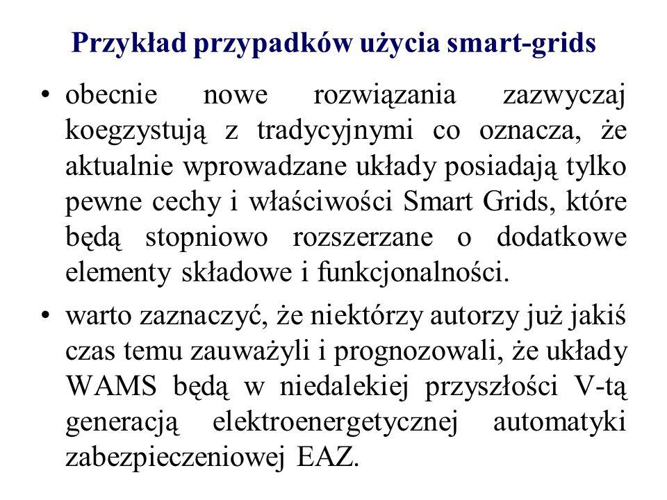 Przykład przypadków użycia smart-grids rozwiązania smart grids w elektroenergetyce w pewnym momencie osiągną dojrzałość tradycyjnej EAZ.