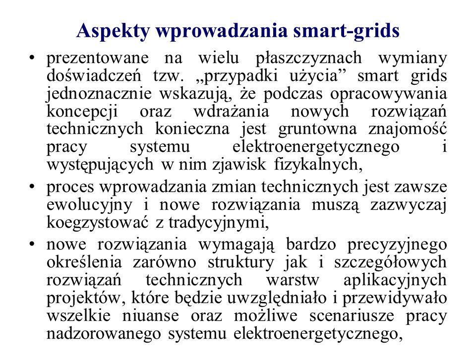 Aspekty wprowadzania smart-grids zagadnienia metrologiczne wymagają nowej perspektywy.