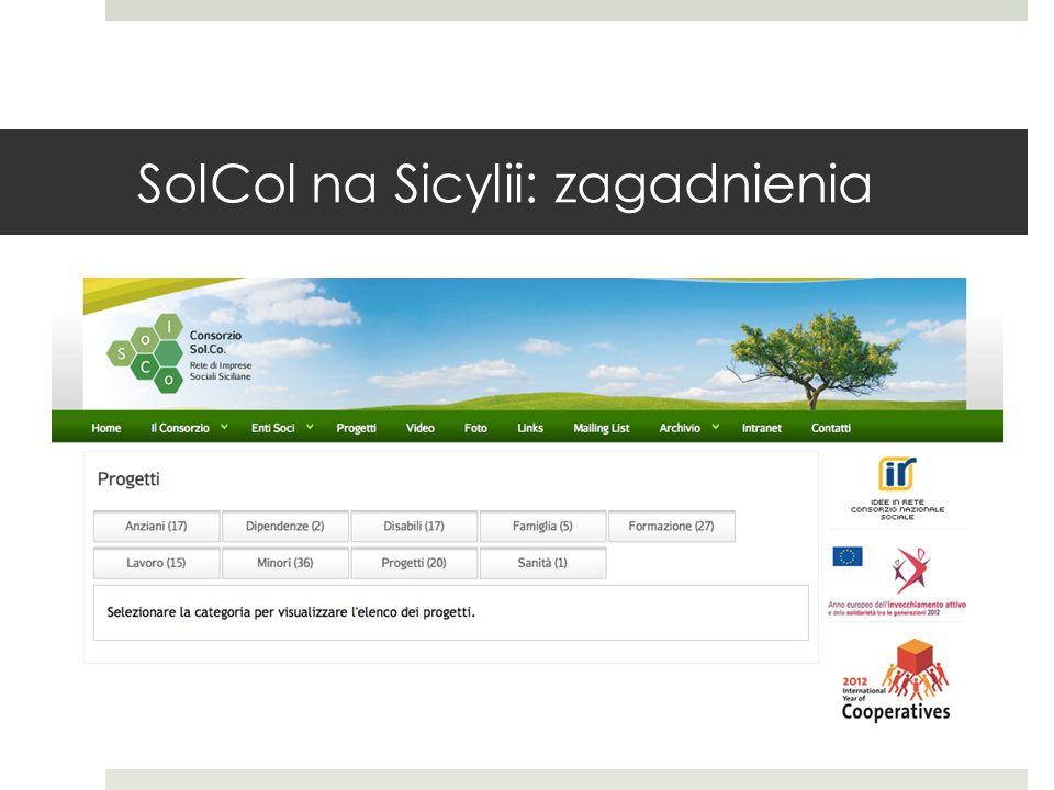 SolCol na Sicylii: zagadnienia