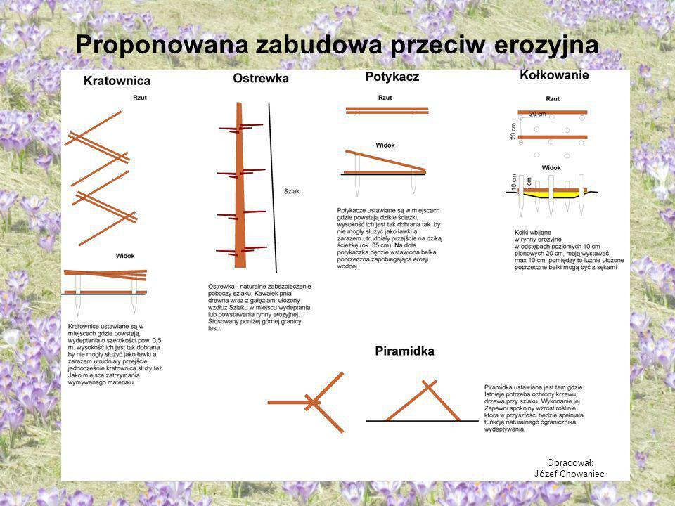 Proponowana zabudowa przeciw erozyjna Opracował: Józef Chowaniec