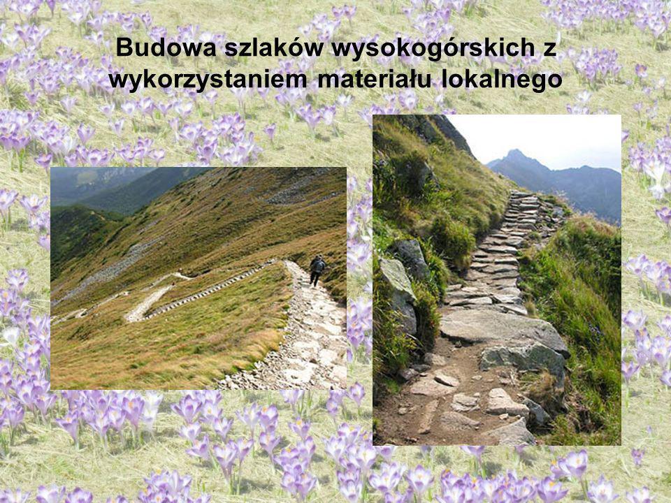 Budowa szlaków wysokogórskich z wykorzystaniem materiału lokalnego