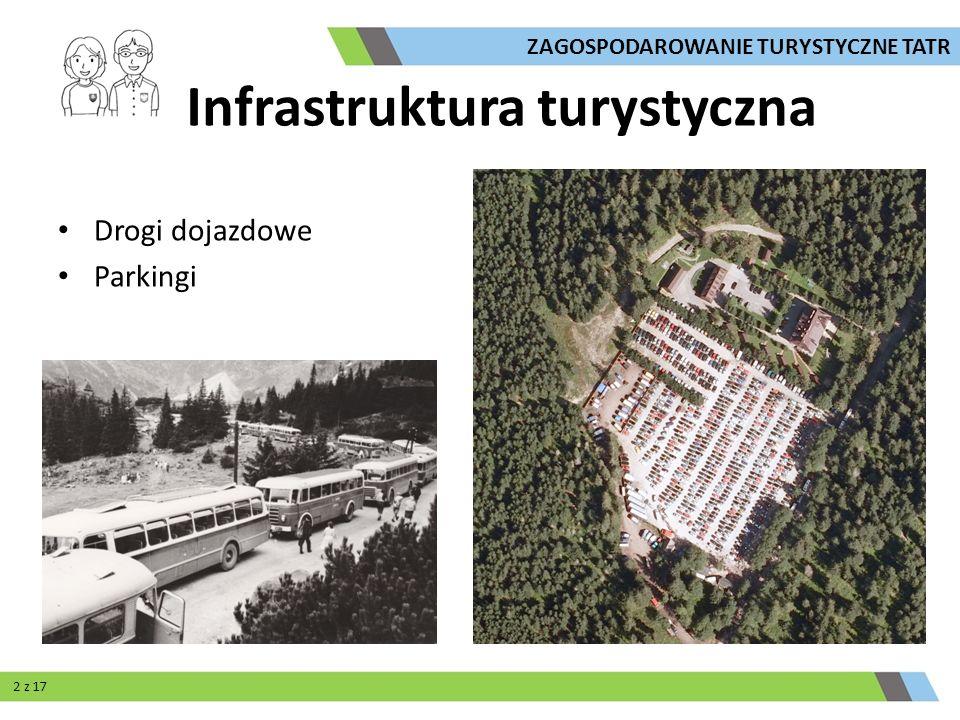 Infrastruktura turystyczna Drogi dojazdowe Parkingi ZAGOSPODAROWANIE TURYSTYCZNE TATR 2 z 17