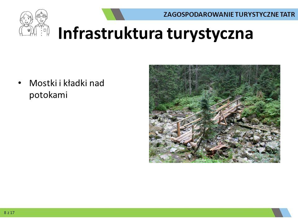Mostki i kładki nad potokami ZAGOSPODAROWANIE TURYSTYCZNE TATR Infrastruktura turystyczna 8 z 17